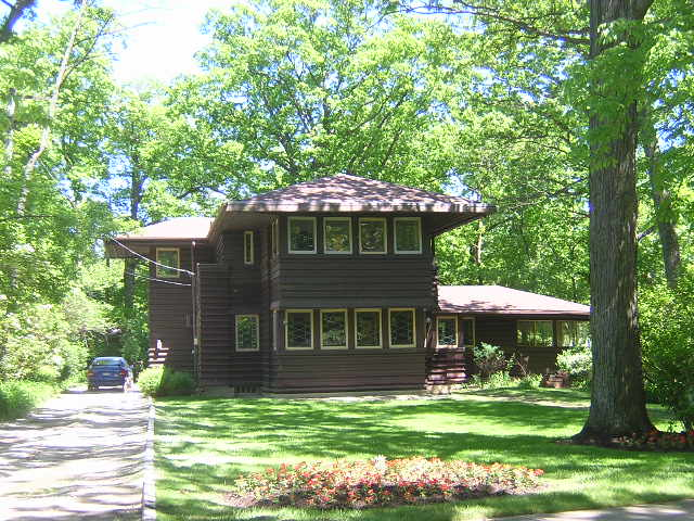 George M. Millard House, Highland Park, Illinois, Frank Lloyd Wright architect