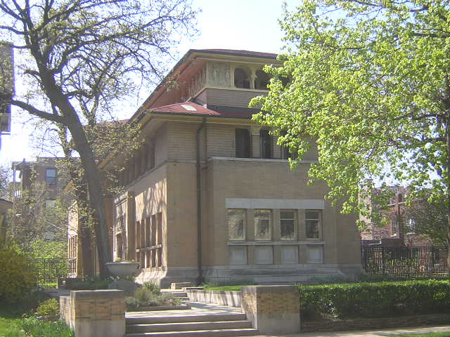 Isadore Heller House, Chicago, Illinois, Frank Lloyd Wright architect