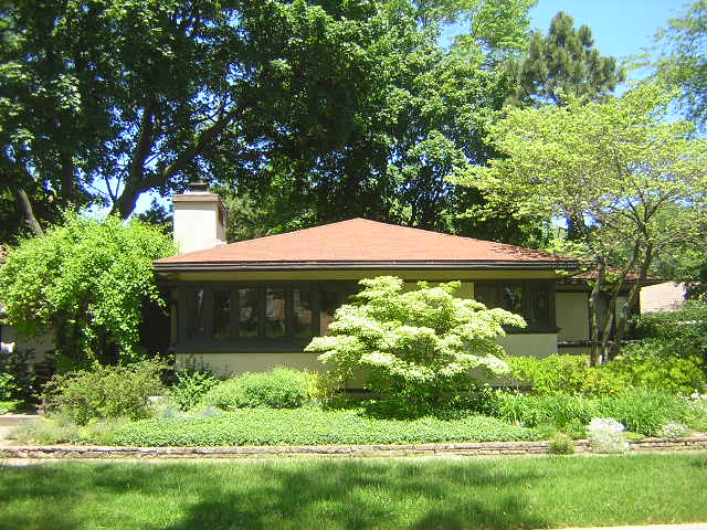 Lewis E. Burleigh House, Wilmette, Illinois, Frank Lloyd Wright architect