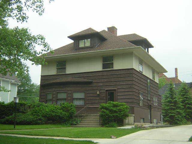 Peter Goan House, La Grange, Illinois, Frank Lloyd Wright architect