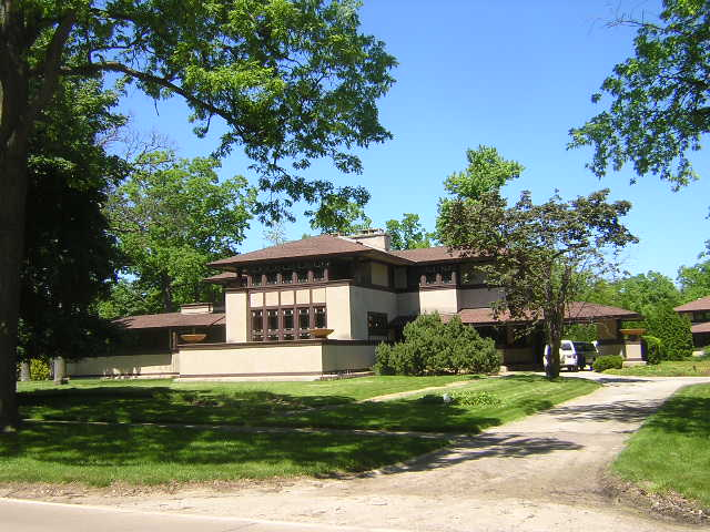 Ward W. Willits House, Highland Park, Il. Frank Lloyd Wright architect.