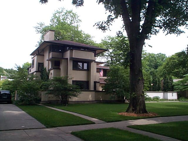 William E. Martin House, Oak Park, IL. Frank Lloyd Wright architect