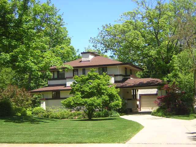 William F. Kier House, Glencoe, Il. Frank Lloyd Wright architect