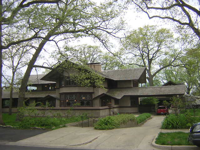 "B. Harley Bradley House ""Glenlloyd"", Kankakee, Illinois, Frank Lloyd Wright architect"