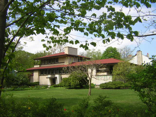 F. F. Tomek House, Riverside built 1907, Frank Lloyd Wright architect