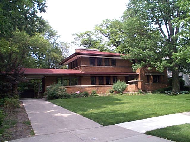 Harry S. Adams House, Oak Park, Illinois, Frank Lloyd Wright architect