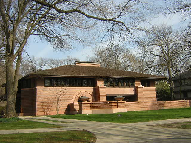 Arthur Heurtley House, Oak Park Illinois, Frank Lloyd Wright architect