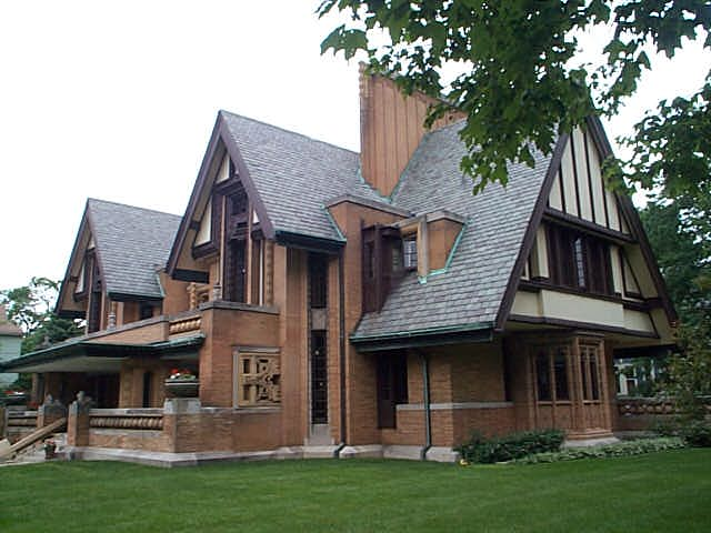 Nathan Grier Moore House, Oak Park, Illinois, Frank Lloyd Wright architect